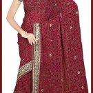Indian Bollywood Designer Embroidered Saree Sari - Tu6308