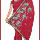 Indian Bollywood Designer Embroidered Saree Sari - Tu5552