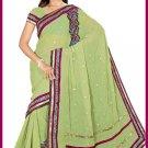 Indian Bollywood Designer Embroidered Saree Sari - Tu5586