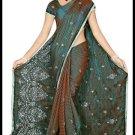 Indian Bollywood Designer Embroidered Saree Sari - Tu5533