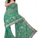 Indian Bollywood Designer Embroidered Saree Sari - Tu119A