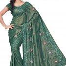 Indian Bollywood Designer Embroidered Saree Sari - Tu114b