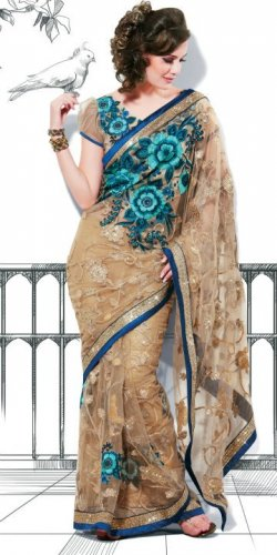 Bollywood Indian Saree Designer Bridal Wedding Sari - X1110