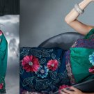 Faux Georgette Bridal Designer Embroidered Sarees Sari With Blouse - X 409