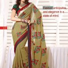 Sari Sarees Faux Georgette Fancy Embroidery Sari With Unstitch Blouse - RTN 37 N