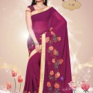Sari Sarees Faux Georgette Bridal Embroidered With Unstitch Blouse - RTN 02 N
