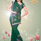 Sari Sarees Faux Georgette Bridal Embroidered With Unstitch Blouse - RTN 08 N