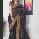 Bridal Faux Georgette Exclusive Designer Embroidery Sari With Blouse - X 928 N