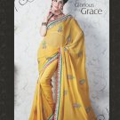 Bridal Faux Georgette Exclusive Designer Embroidery Sari With Blouse - X 905 N