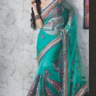 Bridal Net Exclusive Designer Embroidery Sari With Blouse - X 910 N