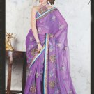 Bridal Net Exclusive Designer Embroidery Sari With Blouse - X 909 N