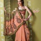 Bollywood Indian Designer Embroidered Wedding Bridal Saree Sari - HF - 7027
