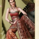 Bollywood Indian Designer Embroidered Wedding Bridal Saree Sari - HF - 7022