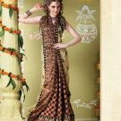 Bollywood Indian Designer Embroidered Wedding Bridal Saree Sari - HF - 7024