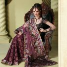 Bollywood Indian Designer Embroidered Wedding Bridal Saree Sari - HF - 7019