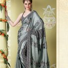 Bollywood Indian Designer Embroidered Wedding Bridal Saree Sari - HF - 7015