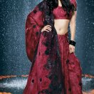 Bollywood Faux Georgette Net Bridal Embroidered Sarees Sari With Blouse - X 518