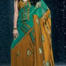Bollywood Faux Georgette Bridal Embroidered Sarees Sari With Blouse - X 525