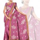 Indian Faux Georgette Wedding Embroidered Saris Sarees With Blouse - HZ 175b N