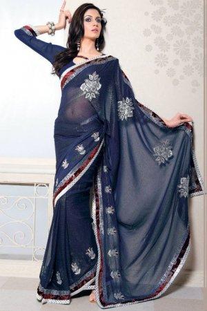 Bollywood Saree Designer Indian Party WEar Sari - X2415