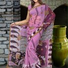 Indian Faux Georgette Wedding Embroidered Saris Sarees With Blouse - HZ 142d N