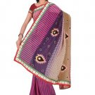 Indian Faux Georgette Wedding Embroidered Saris Sarees With Blouse - HZ 125b N