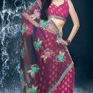 Bollywood Net Viscose  Bridal Embroidered Sarees Sari With Blouse - X 531