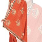 Indian Faux Georgette Wedding Embroidered Saris Sarees With Blouse - HZ 169a N