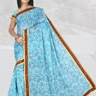 Indian Faux Georgette Wedding Embroidered Saris Sarees With Blouse - HZ 1007b N