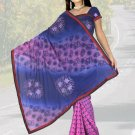 Indian Faux Georgette Wedding Embroidered Saris Sarees With Blouse - HZ 1003d N
