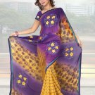 Indian Faux Georgette Wedding Embroidered Saris Sarees With Blouse - HZ 1003a N