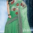 Bollywood Net Bridal Embroidered Sarees Sari With Blouse - X 529