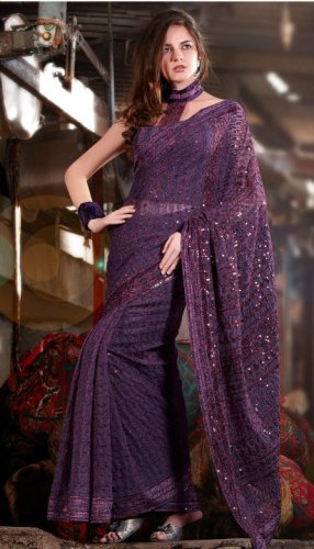 Bollywood Saree Designer Indian Party WEar Sari - X2408