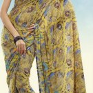 Indian Designer Wedding  Bollywood  Sari Printed Saree  - X 775b