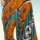 Indian Designer Wedding  Bollywood  Sari Printed Saree  - X 766