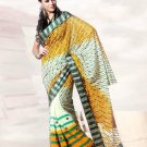Faux Georgette Wedding Heavy Embroidered Sarees Sari With Blouse - X 2426