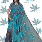 Indian Bollywood Designer Embroidered Saree Sari - X pragya