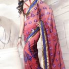 Faux Georgette Wedding Heavy Embroidered Sarees Sari With Blouse - X 2428