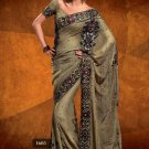 Faux Georgette Wedding Designer Embroidered Saree Sari With Blouse - X 1605