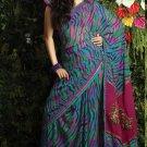 Indian / Pakistani Designer Bollywood Printed Light Work Saree Sari - X 1428