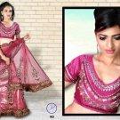 Indian Bollywood Designer Bridal Embroidered Sarees Sari - HZ953