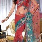 Sari & Sarees Net Designer Embroidered Sarees With Unstitch Blouse- RTN 89 N