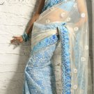 Saree Sari Indian Bollywood Designer Embroidered Fancy - X 515