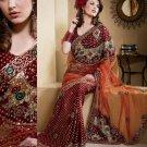 Saree Sari Indian Bollywood Designer Embroidered Fancy - X 423