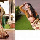 Net Georgett Embroidery Lehenga Ghagara Saree Sari With Blouse - X 12310