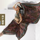 Indian Womens Clothing Saree Printed Saree Sari - X5613A