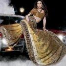 Indian Womens Clothing Saree Embroidered Saree Sari - X15010A
