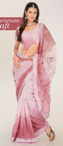 Indian Saree Bollywood Designer Bridal Wedding Sari Embroidery  - X 1252