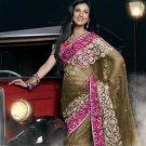 Indian Womens Clothing Saree Embroidered Saree Sari - X15018B