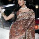 Indian Womens Clothing Saree Embroidered Saree Sari - X15010B